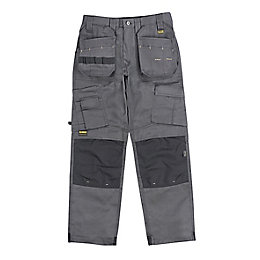 "DeWalt Pro Tradesman Grey Trousers W32"" L33"""