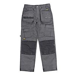 """DeWalt Pro Tradesman Grey Trousers W32"""" L33"""""""