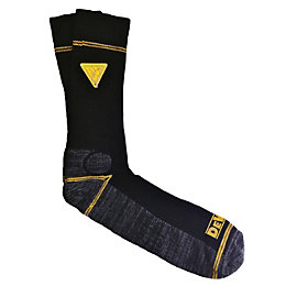 DeWalt 2 Pairs Of Black Work Socks Size