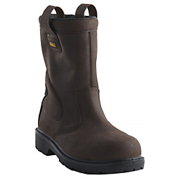 DeWalt Brown Leather Steel Toe Cap Rigger Boot,