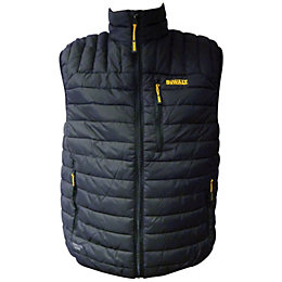 DeWalt Fitted Black Gilet Medium