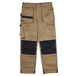 "DeWalt Pro Tradesman Brown Trousers W32"" L31"""