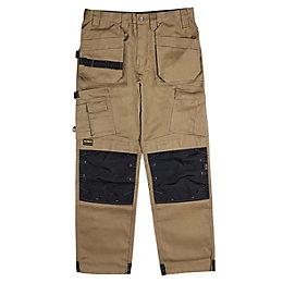 """DeWalt Pro Tradesman Brown Trousers W38"""" L31"""""""