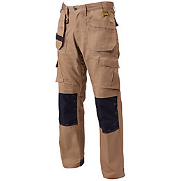 "DeWalt Pro Tradesman Brown Trousers W32"" L33"""