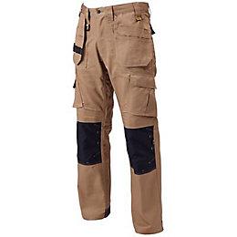 """DeWalt Pro Tradesman Brown Trousers W38"""" L33"""""""