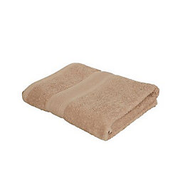 Catherine Lansfield Plain Biscuit Bath Towel