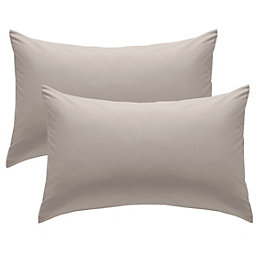 Chartwell Plain Housewife Natural Pillow Case, Pack of