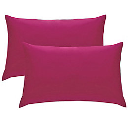 Chartwell Plain Housewife Hot Pink Pillow Case, Pack