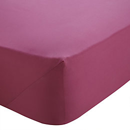 Chartwell Hot Pink Double Fitted Sheet