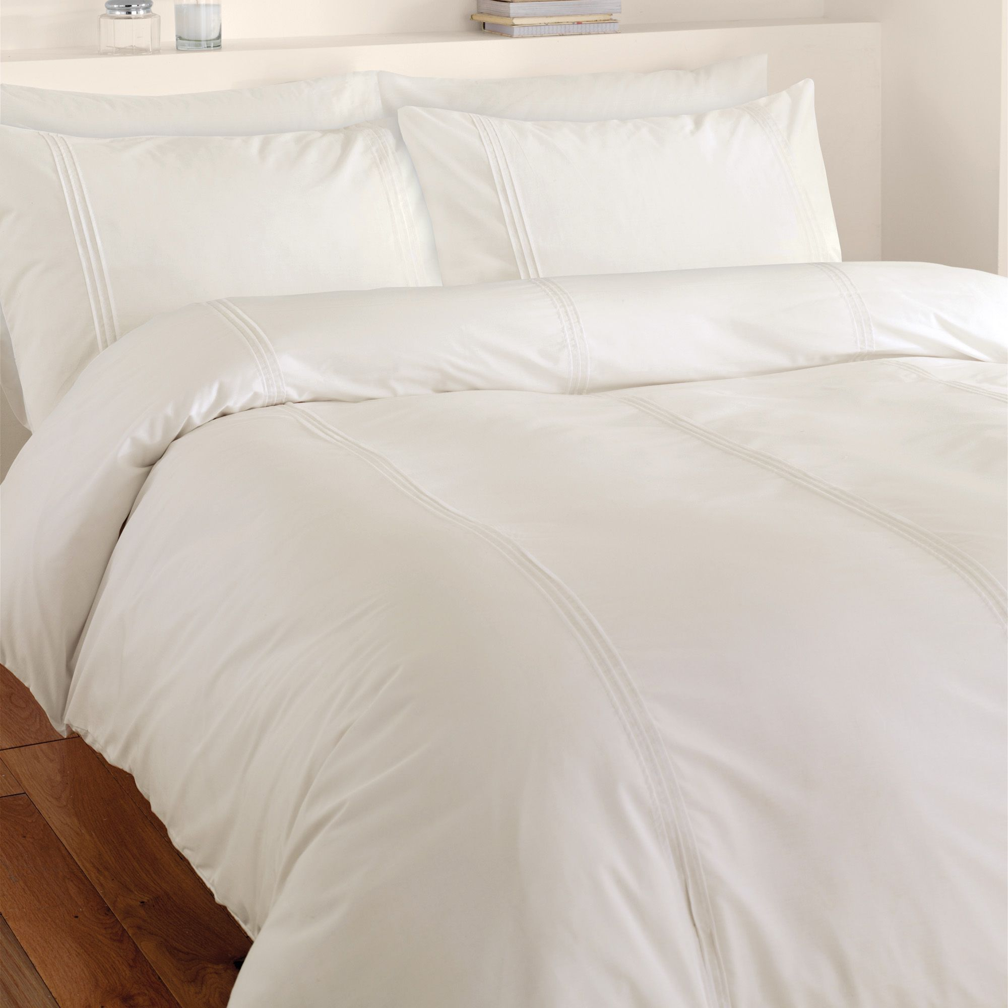 Chartwell Simplicity Plain Cream Single Bed Cover Set