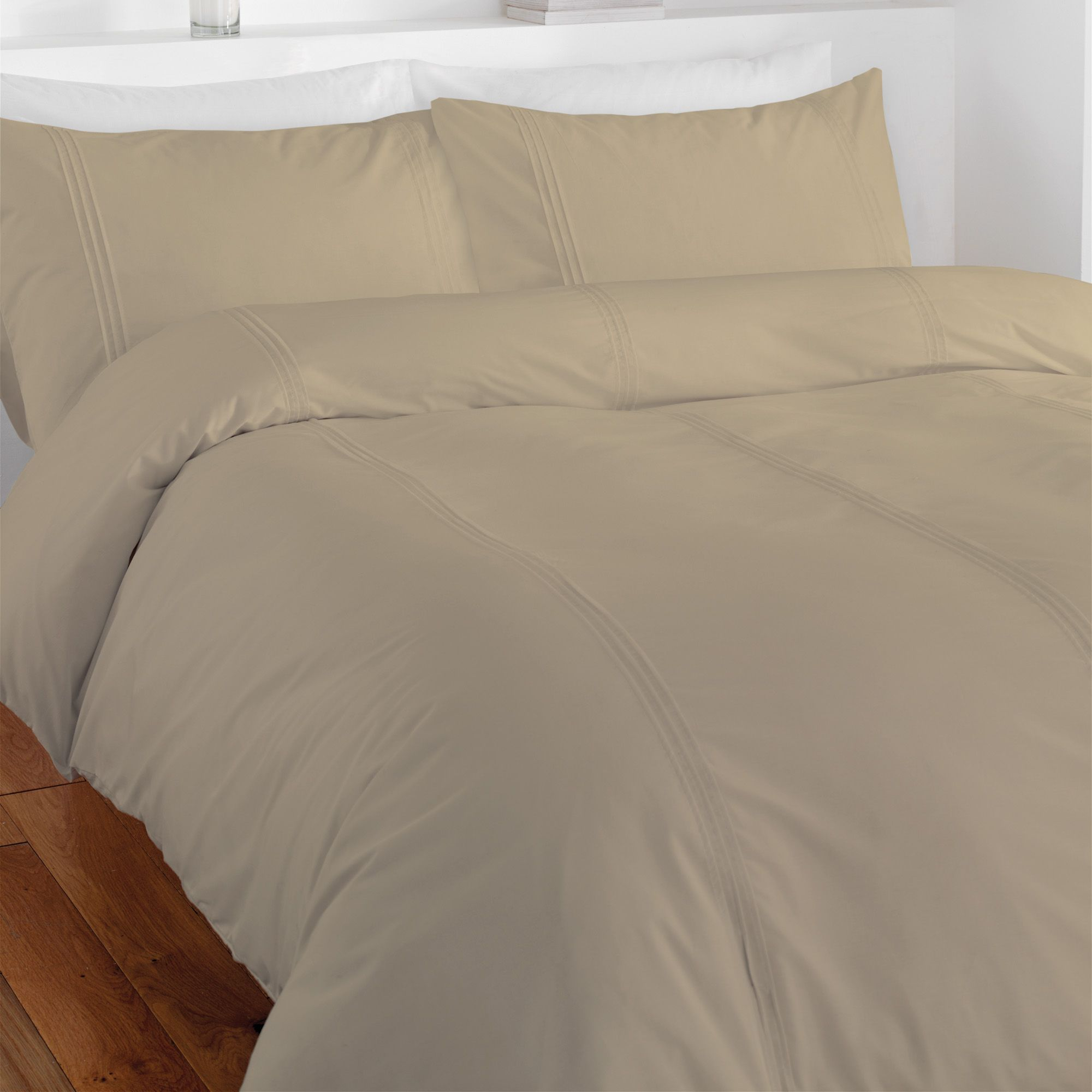 Chartwell Simplicity Plain Beige Single Bed Cover Set