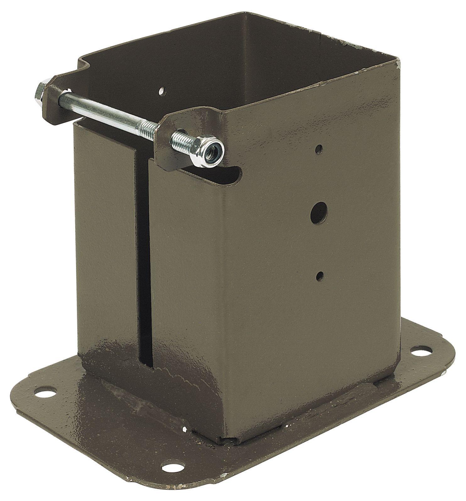 Swirl Top Steel Bolt Down Post Support (L)480mm (W)100mm