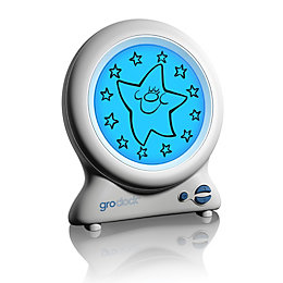 Gro-Clock Sleep Trainer Children's White Alarm Clock