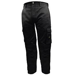 """Stanley Phoenix Black Work Trousers W38"""" L31"""""""