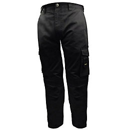 "Stanley Phoenix Black Work Trousers W32"" L33"""
