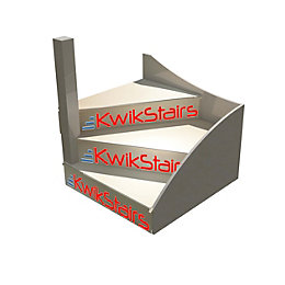 kWikstairs Left-Hand Winder Staircase Pack (W)Up to 900mm