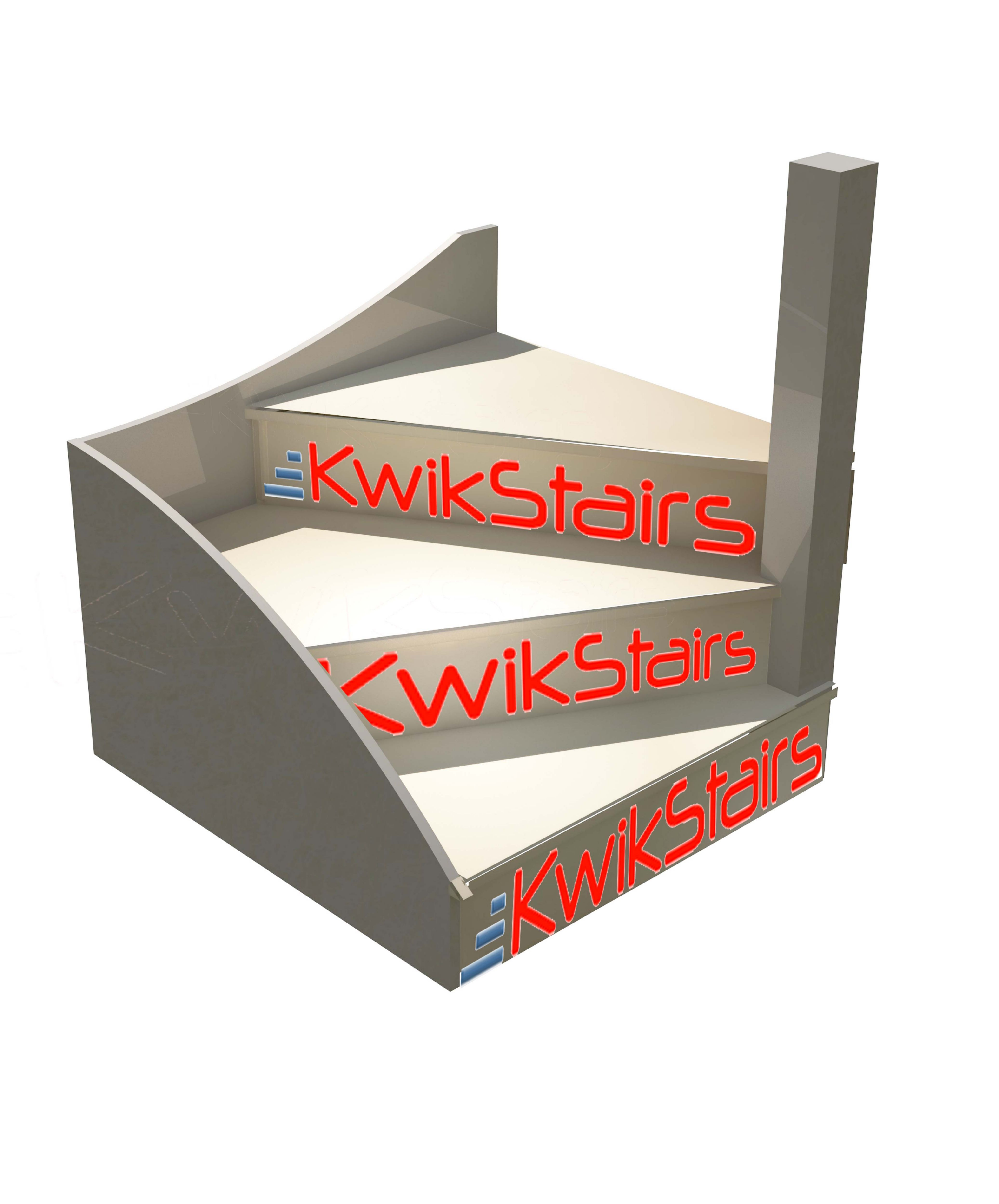 Stair calculator winders - Kwikstairs Right Hand Winder Staircase Pack W 900mm Departments Diy At B Q