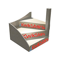 kWikstairs Right-Hand Winder Staircase Pack (W)Up to 900mm