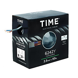 Time 2.5mm² Twin & Earth Cable 6242Y (L)50m