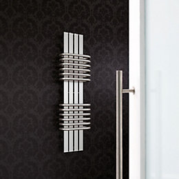 Magnifico Vertical Radiator Brushed, (H)630 mm (W)300 mm