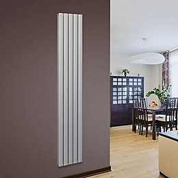 Opague Vertical Radiator Silver, (H)1800 mm (W)345 mm