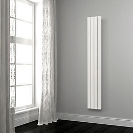 Opague Vertical Radiator White (H)2000 mm (W)485 mm