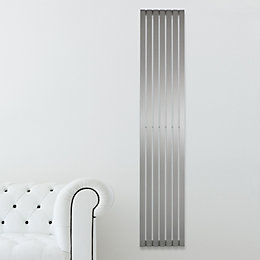 Kali Radiator Brushed, (H)1500 mm (W)240 mm