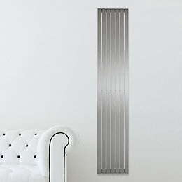 Kali Vertical Radiator Brushed, (H)2000 mm (W)340 mm