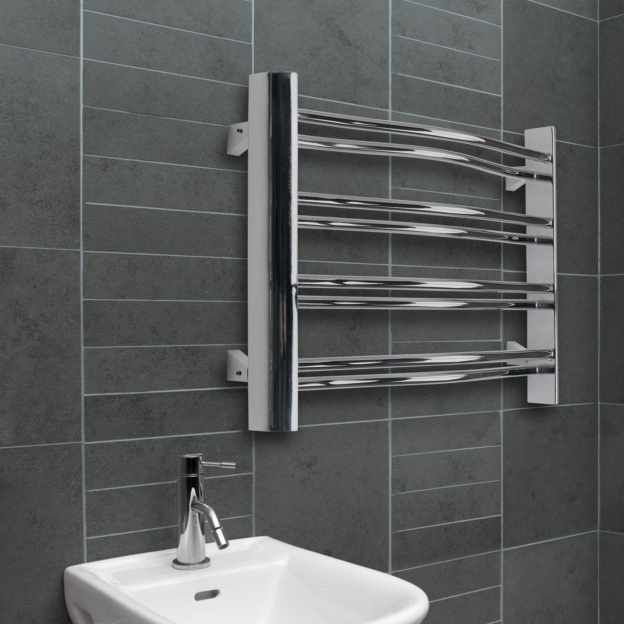 Chrome radiators bathroom