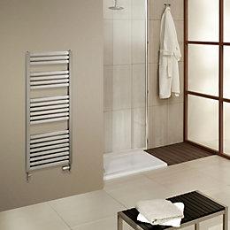 Piro Brushed Steel Towel Rail (H)1660mm (W)550mm