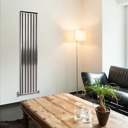 Alio Vertical Radiator Brushed, (H)1500 mm (W)220 mm