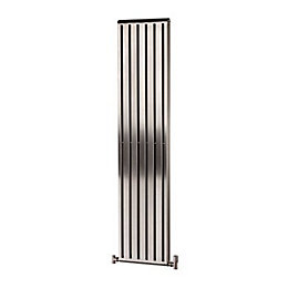 Alio Vertical Radiator Brushed (H)1500 mm (W)330 mm