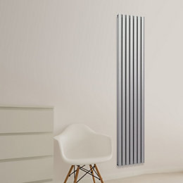 Chord Vertical Radiator Silver, (H)2000 mm (W)345 mm