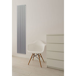 Chord Vertical Radiator Silver (H)1800 mm (W)495 mm