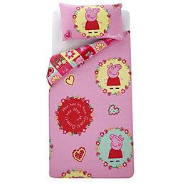 Peppa Pig Multicolour Single Children's Duvet Set
