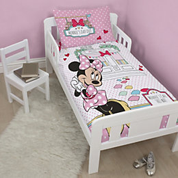 Disney Minnie Mouse Pink & White Junior Bed