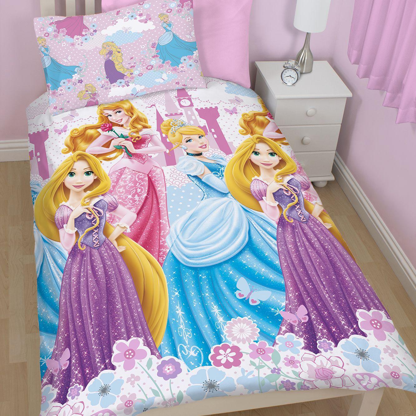 Disney Princess Multicolour Single Children's Duvet Set