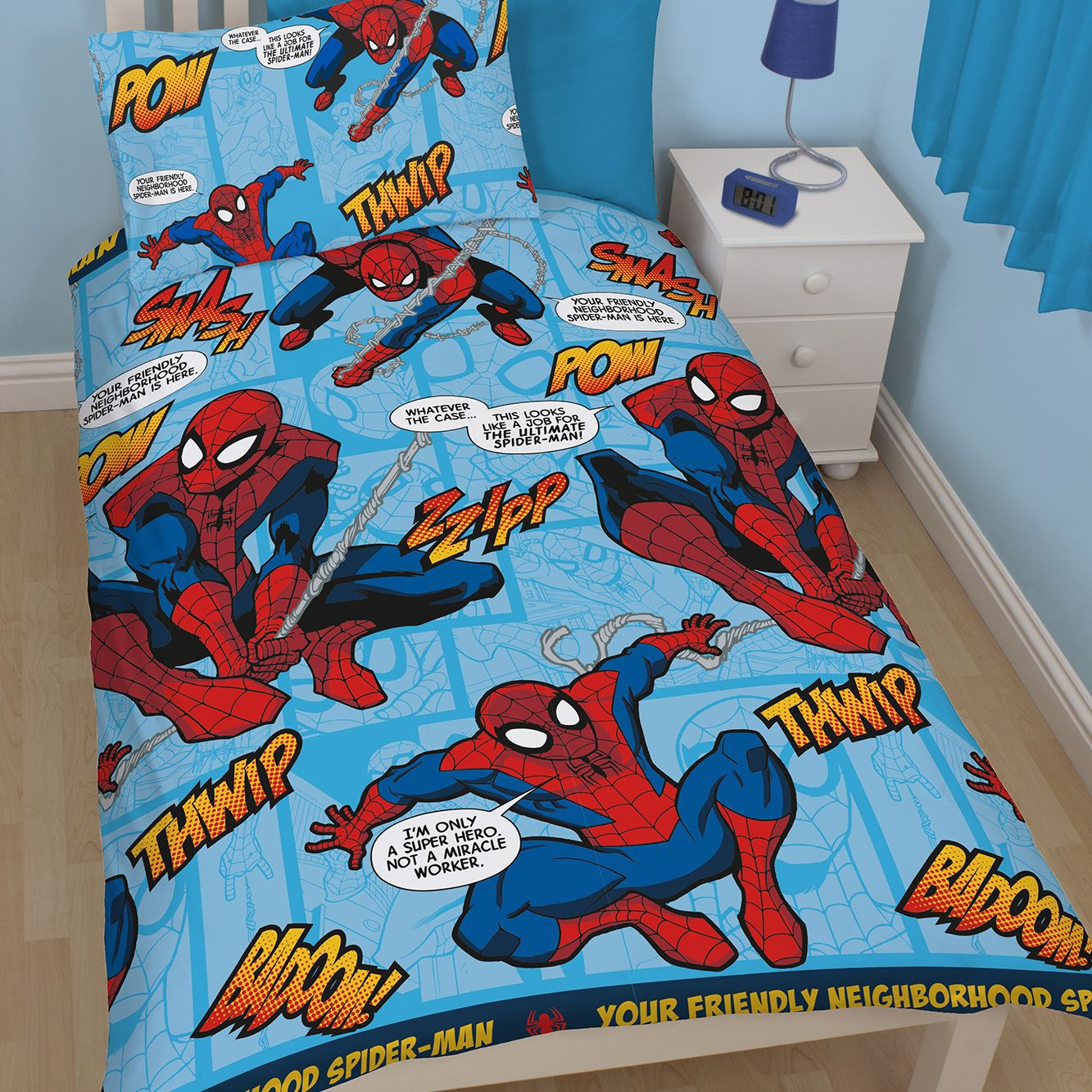 Marvel Spiderman Multicolour Single Children's Duvet Set