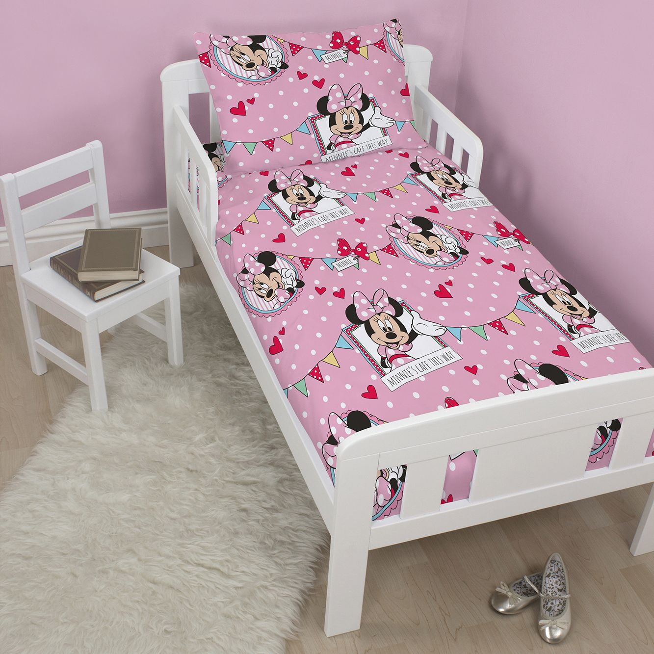 Disney Minnie Mouse Pink Junior Bundle Bedset