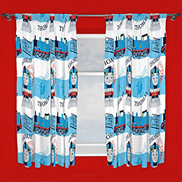 Blue & White Thomas & Friends Pencil Pleat