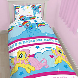 My Little Pony Reversible Multicolour Single Bed Set
