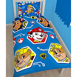 Paw Patrol Multicolour Single Bed Set