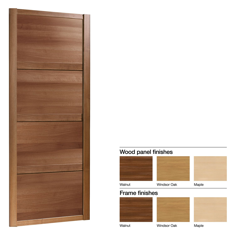 Made To Measure Shaker 4 Panel Wood Effect Sliding Wardrobe Door W 741 913mm