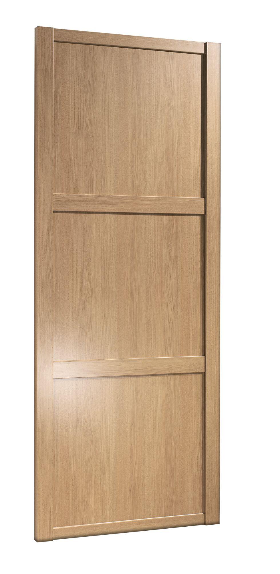 Shaker natural oak effect sliding wardrobe door h 2220 mm for B q bedrooms sliding wardrobe doors