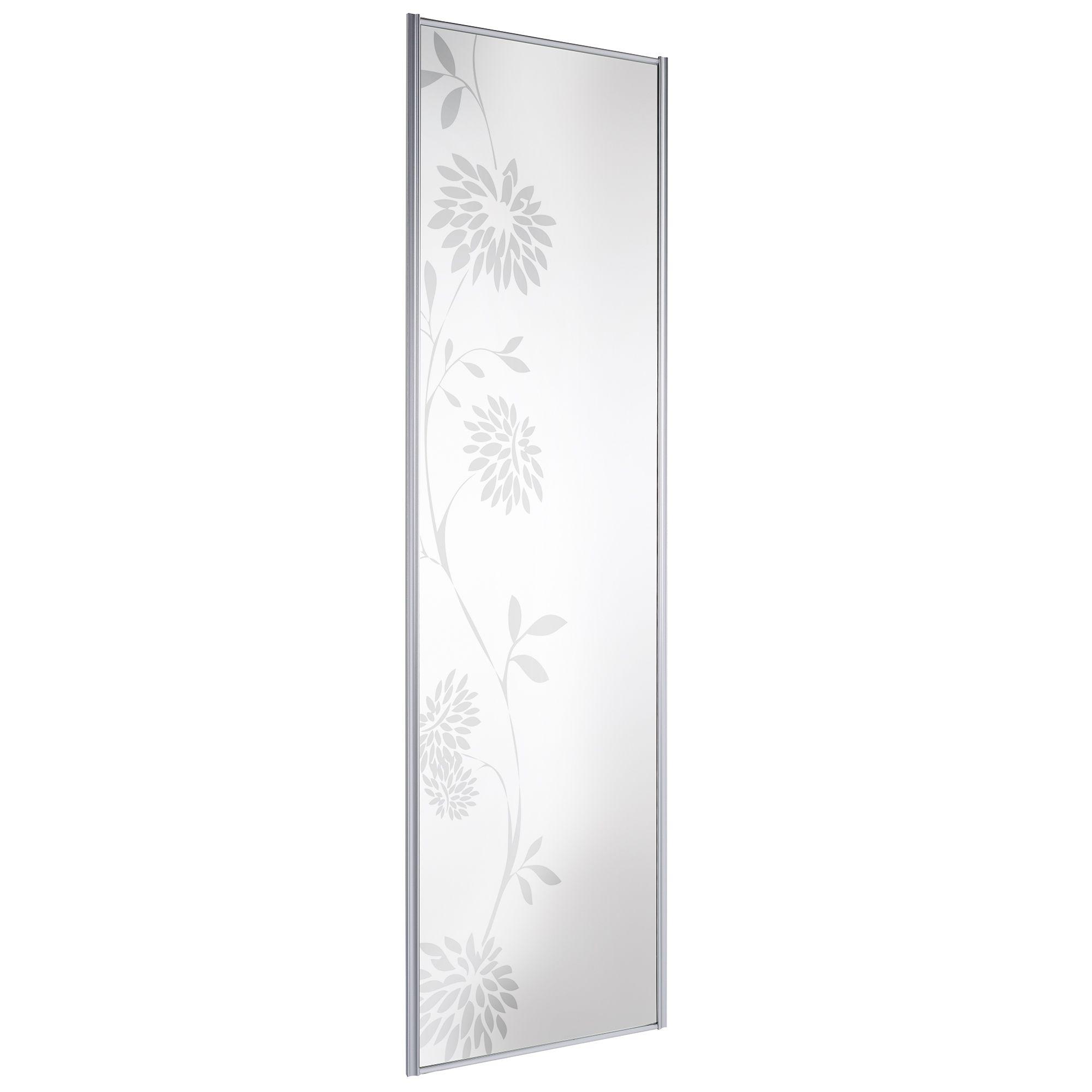 Full Length Mirror Mirror Sliding Wardrobe Door (h)2220 Mm (w)610 Mm
