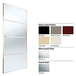 Made to Measure Minimalist 4 Panel Glass/ Mirror