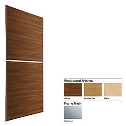 Made to Measure Minimalist 2 Panel Wood Effect