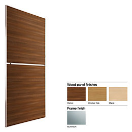Made to Measure Minimalist 2 Panel Wood Effect