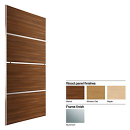 Made to Measure Minimalist 4 Panel Wood Effect