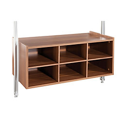 Spacepro Walnut Effect Large Matrix Box (H)384mm (W)900mm